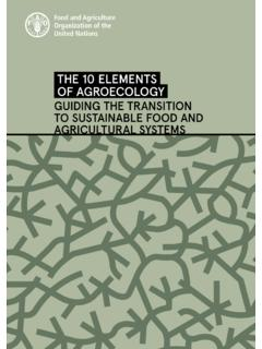 THE 10 ELEMENTS OF AGROECOLOGY - Home | Food and ...