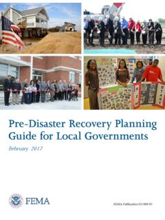Pre-Disaster Recovery Planning Guide for Local …