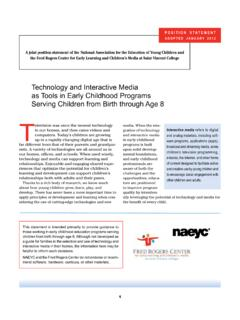 Technology and Interactive Media as Tools in Early ...