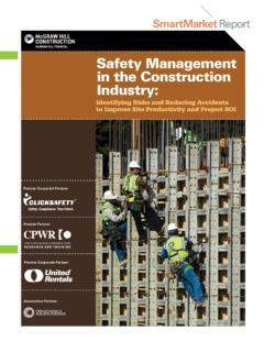 Safety Management in the Construction Industry - CPWR
