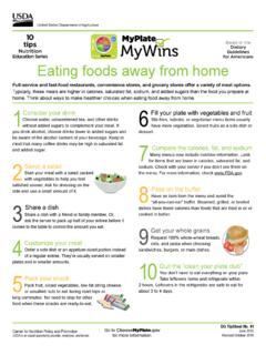 10 MyPlate tips MyWins