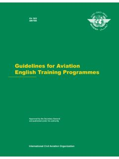 Guidelines for Aviation English Training Programmes