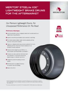 MERITOR STEELite X30 LIGHTWEIGHT BRAKE DRUMS FOR …