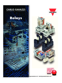 Relays - Gavazzi Industrial Automation Products