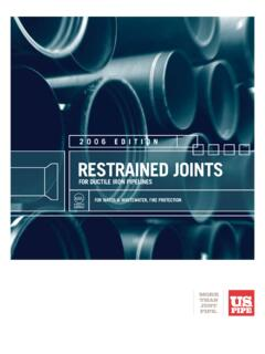 2006 Edition rEstrainEd Joints - US Pipe