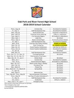 Oak Park and River Forest High School 2018-2019 …