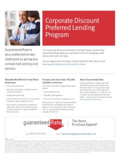 Corporate Discount Preferred Lending Program - Forest …