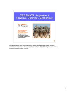 CERAMICS: Properties 1 (Physical, Chemical, Mechanical)