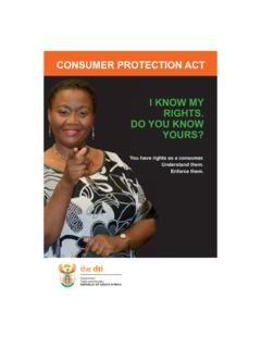 CONSUMER PROTECTION ACT I KNOW MY RIGHTS. DO …