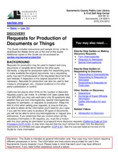 Requests for Production of Documents or Things - saclaw.org