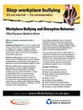Workplace Bullying and Disruptive Behavior - …