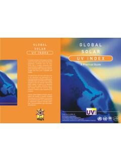 UV INDEX SOLAR - who.int