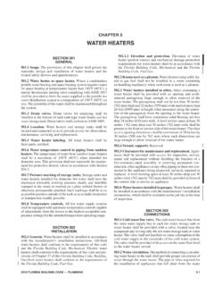CHAPTER 5 WATER HEATERS - eCodes