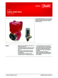 Data sheet Safety relief valve Type POV - files.danfoss.com