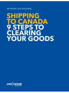 ImportIng and ExportIng Shipping to Canada 9 StepS to ...