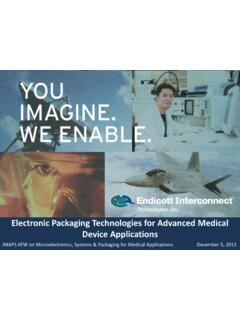 Electronic Packaging Technologies for Advanced Medical ...