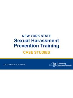 NEW YORK STATE Sexual Harassment Prevention Training