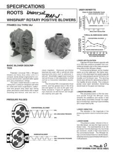 SPECIFICATIONS - THEREC KINEMATICS