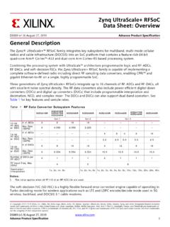 ZynqUltraScale+ RFSoC Data Sheet: Overview - Xilinx