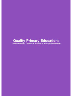 Quality Primary Education - UNICEF