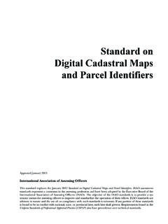 Standard on Digital Cadastral Maps and Parcel …
