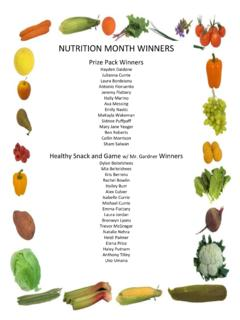 NUTRITION MONTH WINNERS - mohawkpto.weebly.com