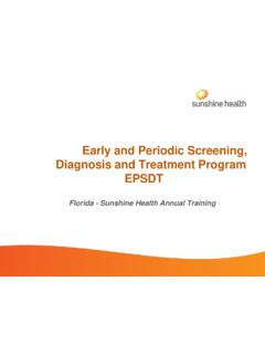 Early and Periodic Screening, Diagnosis and …
