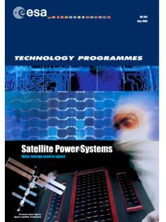 Satellite Power Systems - European Space Agency