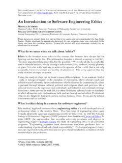 An Introduction to Software Engineering Ethics