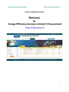 Welcome to Energy Efficiency Services Limited E-Procurement