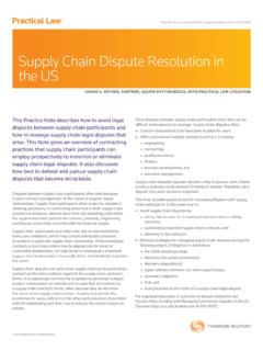 Supply Chain Dispute Resolution in the US