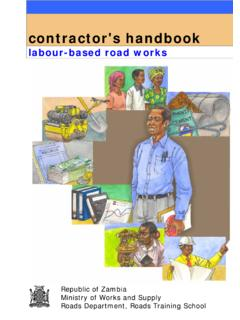 labour-based road works - International Labour …