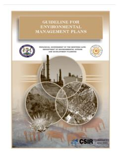 GUIDELINE FOR ENVIRONMENTAL - Western Cape