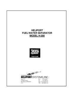 HELIPORT FUEL/WATER SEPARATOR MODEL H-200