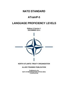 NATO STANDARD ATrainP-5 LANGUAGE …