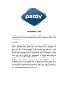 Fire Testing of Foams - Palziv