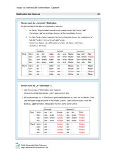 Pdf neutrum tabelle maskulin feminin Relativpronomen
