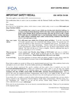 IMPORTANT SAFETY RECALL - Chrysler