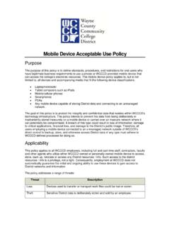 Mobile Device Acceptable Use Policy
