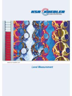 Level Measurement - ksr-kuebler.com