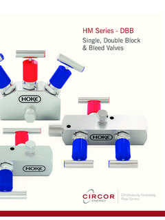 Single, Double Block & Bleed Valves - Hoke
