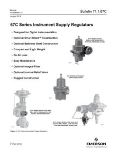 Product Bulletin: 67C Series Instrument Supply …
