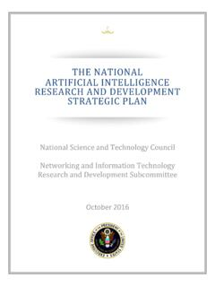 The National Artificial Intelligence Research and ...