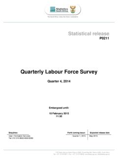 Quarterly Labour Force Survey - Statistics South …
