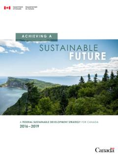 ACHIEVING A SUSTAINABLE FUTURE - Canada.ca
