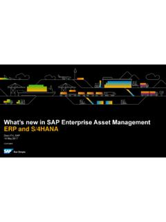 What's new in SAP Enterprise Asset Management ERP and …