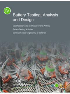 Battery Testing, Analysis and Design - Department of Energy