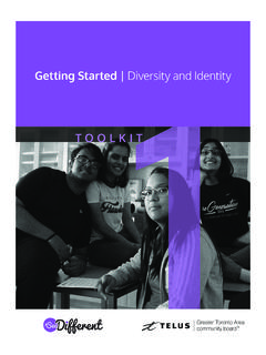 Getting Started Diversity and Identity - ccdi.ca