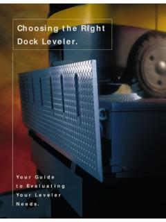 Choosing the Right Dock Leveler. - Datar Engineering