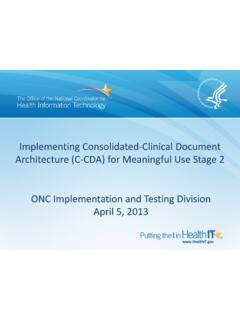 Implementing Consolidated-Clinical Document Architecture ...
